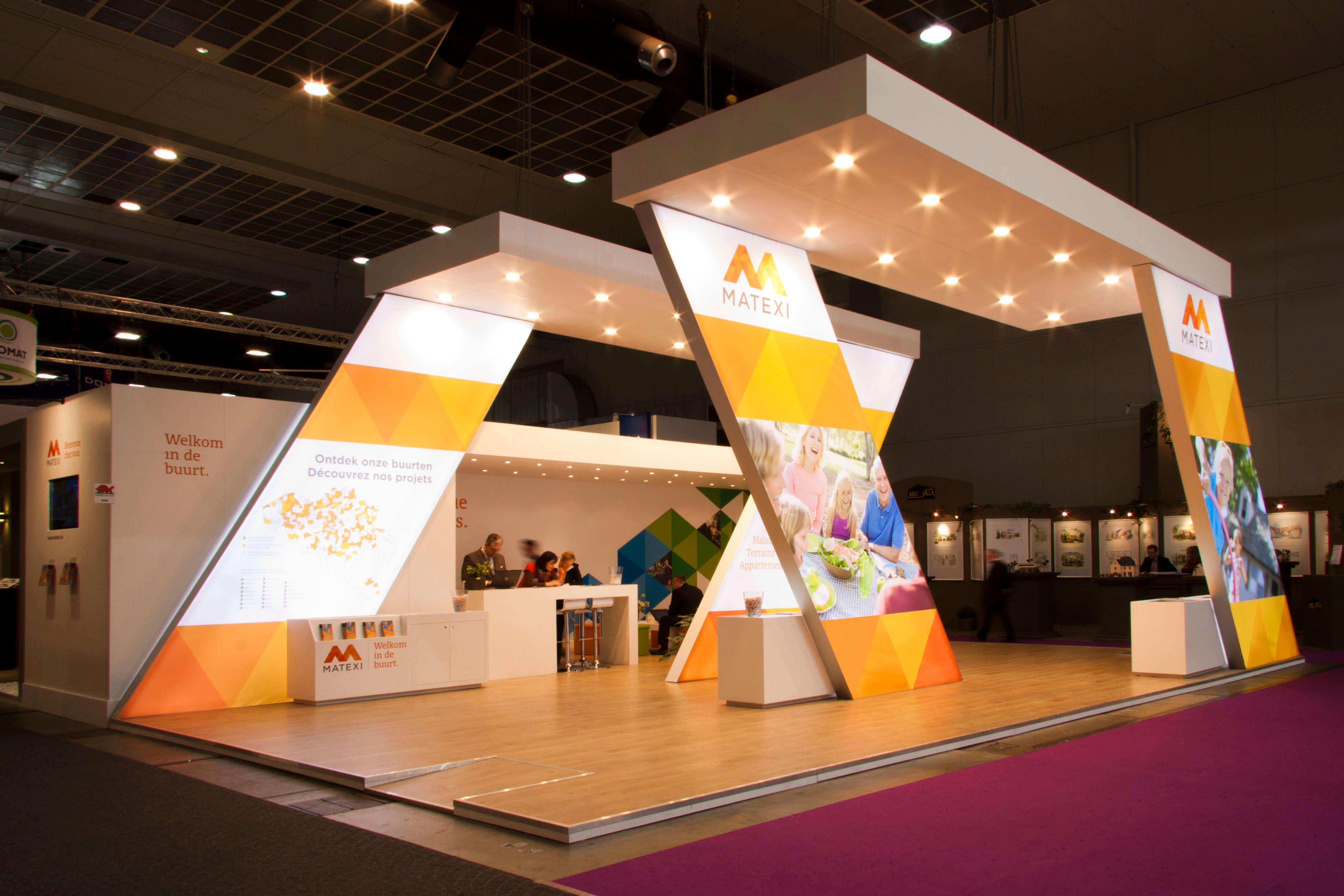 Exhibition stand design company dubai abu dhabi for Fabricant de stand